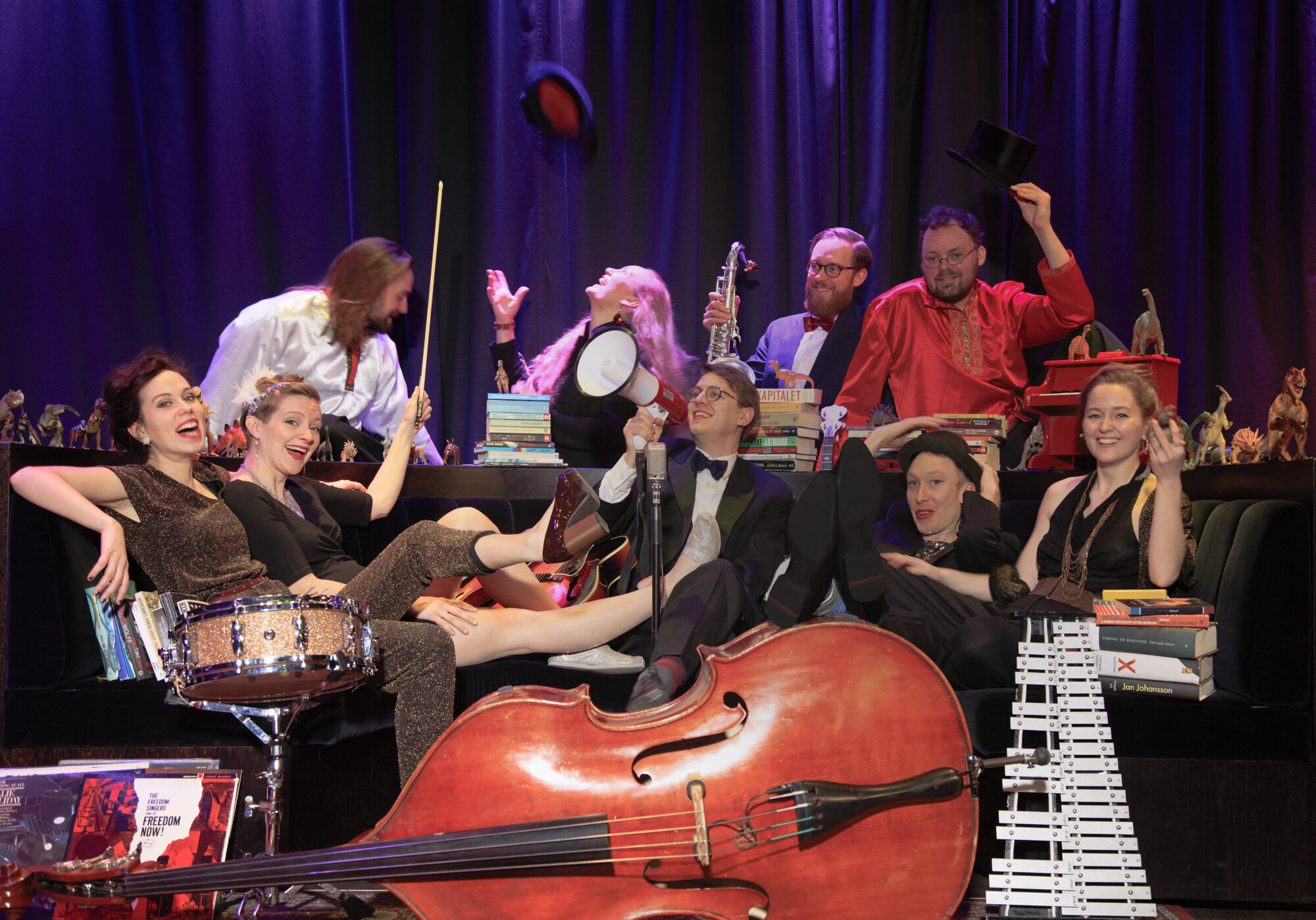 Cats and Dinosaurs - Cats and Dinosaurs is a left wing feminist swing collective playing original lindyhop dance music with political lyrics in Swedish and English, AKA
