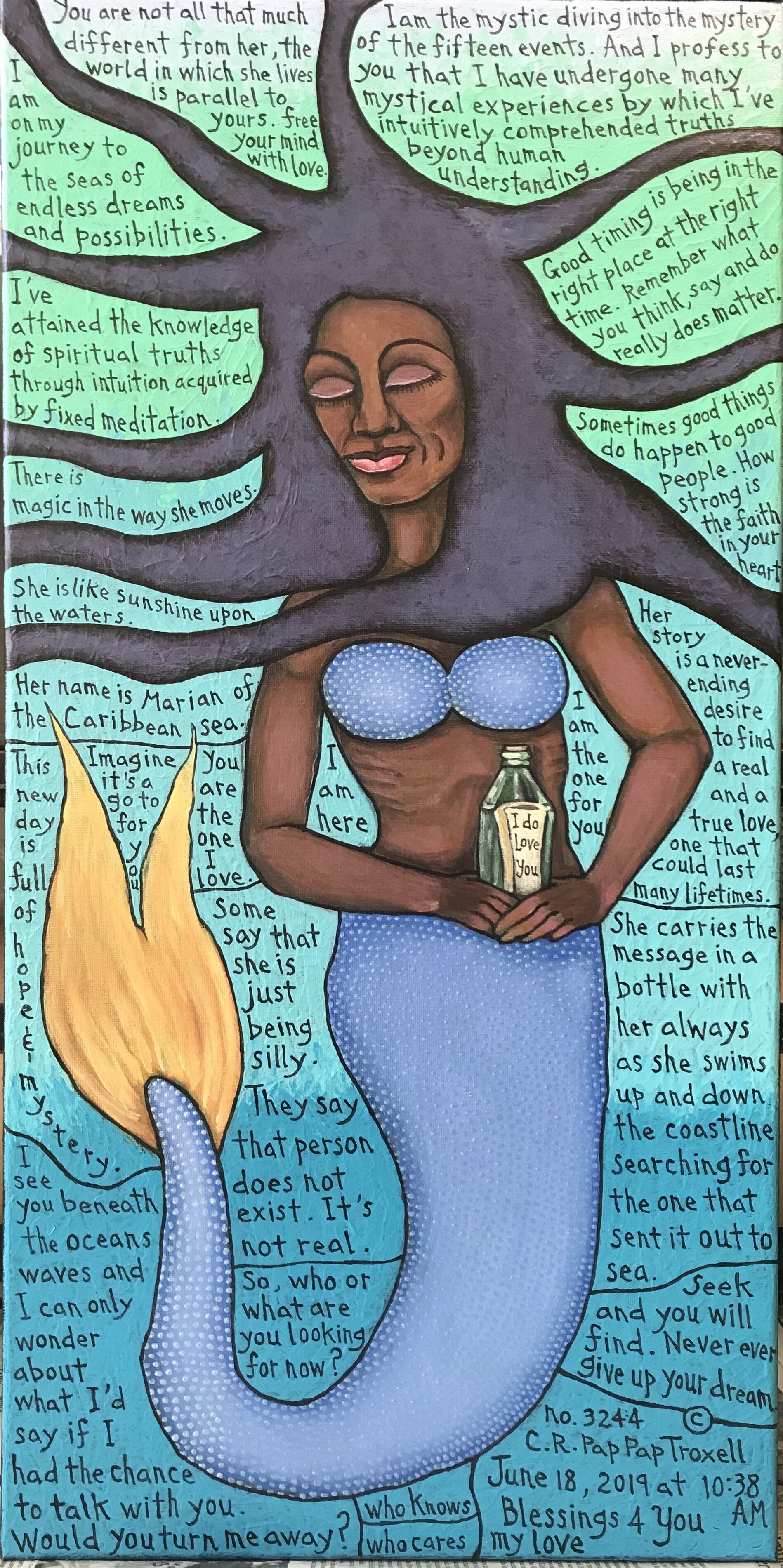 No. 3233 Mermaid with Message in a Bottle.jpg