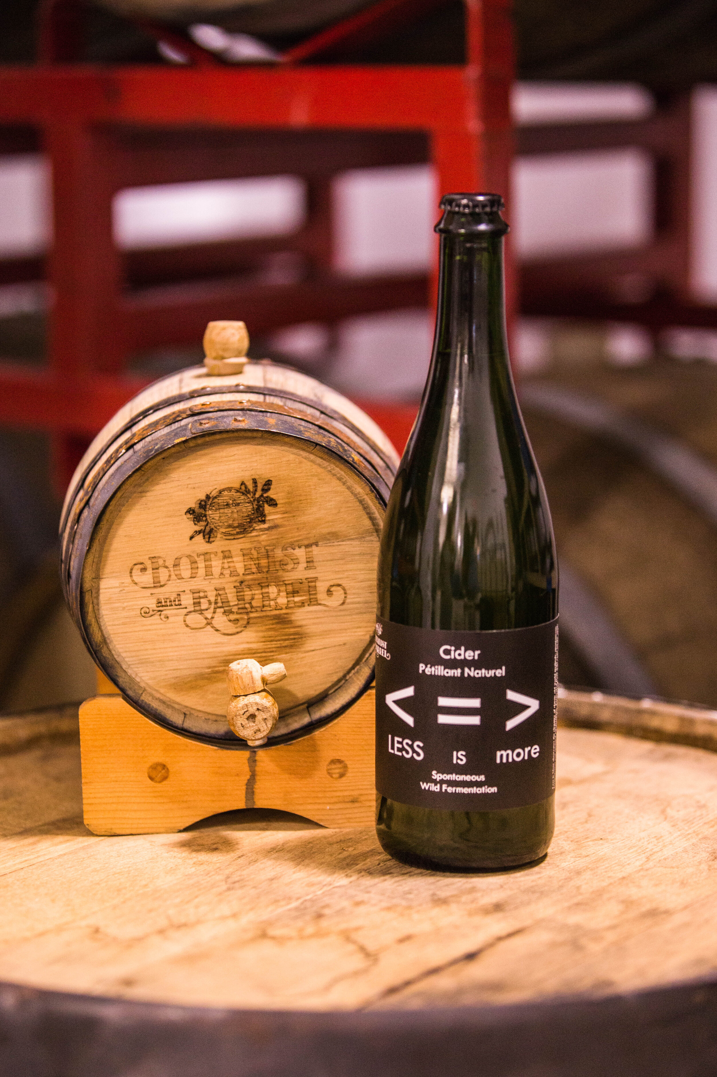 Less is More Pet Nat Cider - Spontaneous fermentation creates a cider with a touch of sweetness, sour, funk and light bubbles. A true classic.