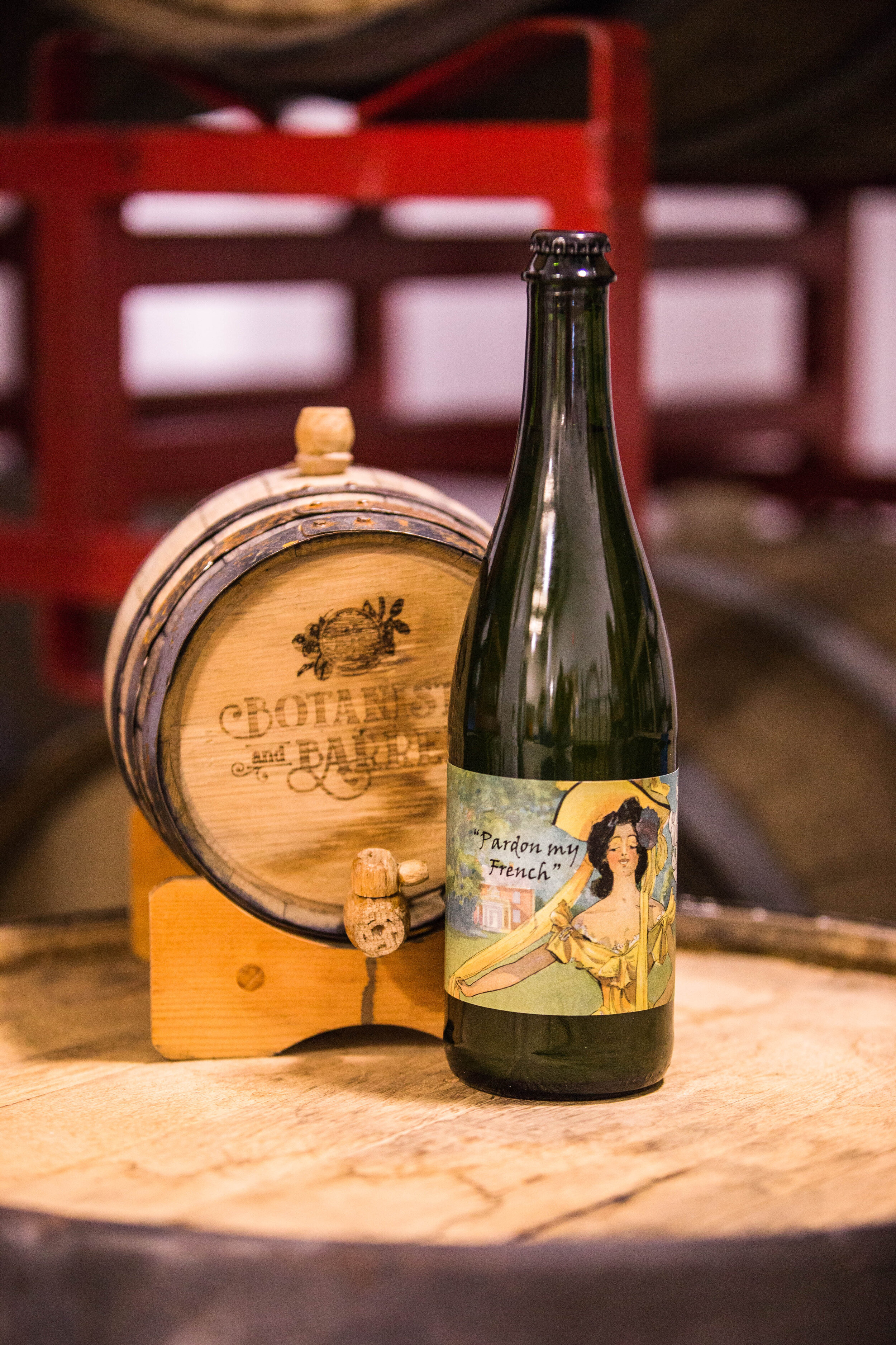 Pardon My French - A special blend of late season apples aged in Sauternes barrels.