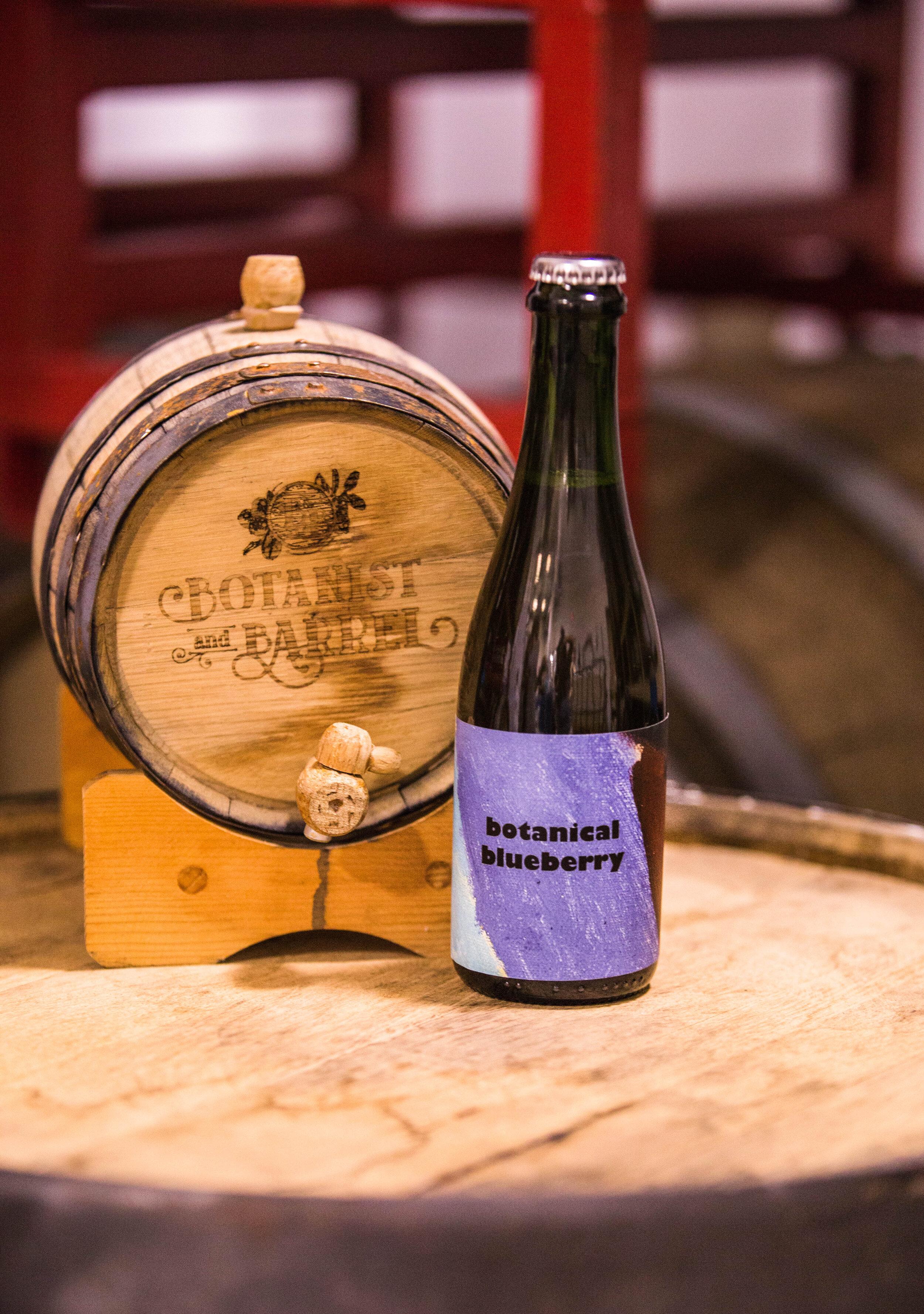 Botanical Blueberry - Estate blueberry cider aged in gin barrels