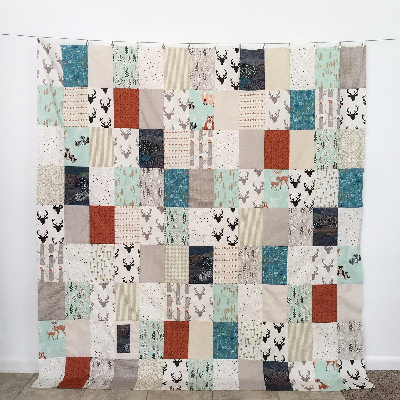 """Hello Bear"" Free Wedding Quilt Pattern designed by Katie Blakesley from Swim Bike Quilt"