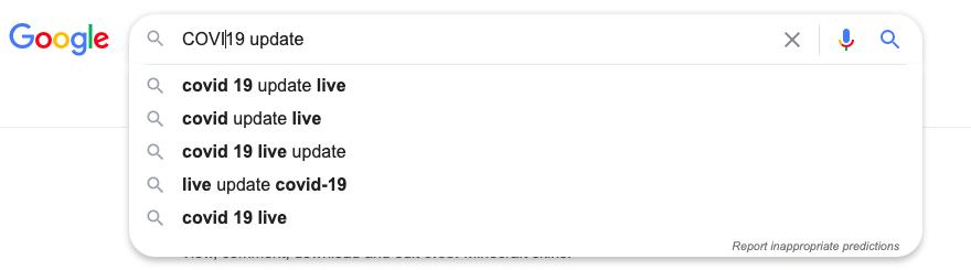 COVID19 Search trends