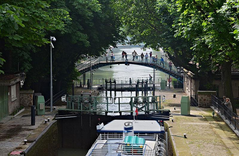 Paris Canal St-Martin écluses Récollets, JLPC / Wikimedia Commons / CC BY-SA 3.0
