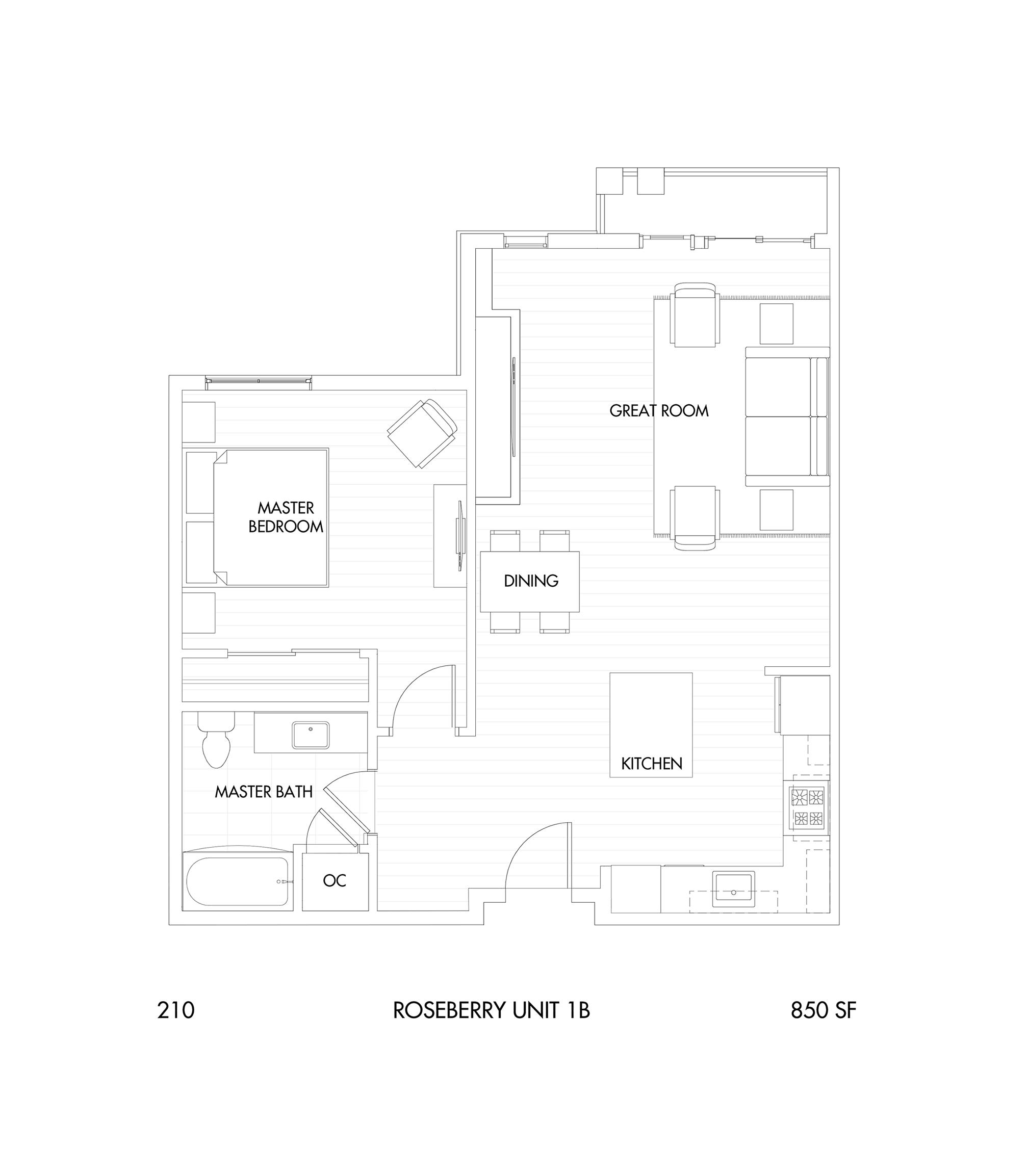 Roseberry 1-Bedroom