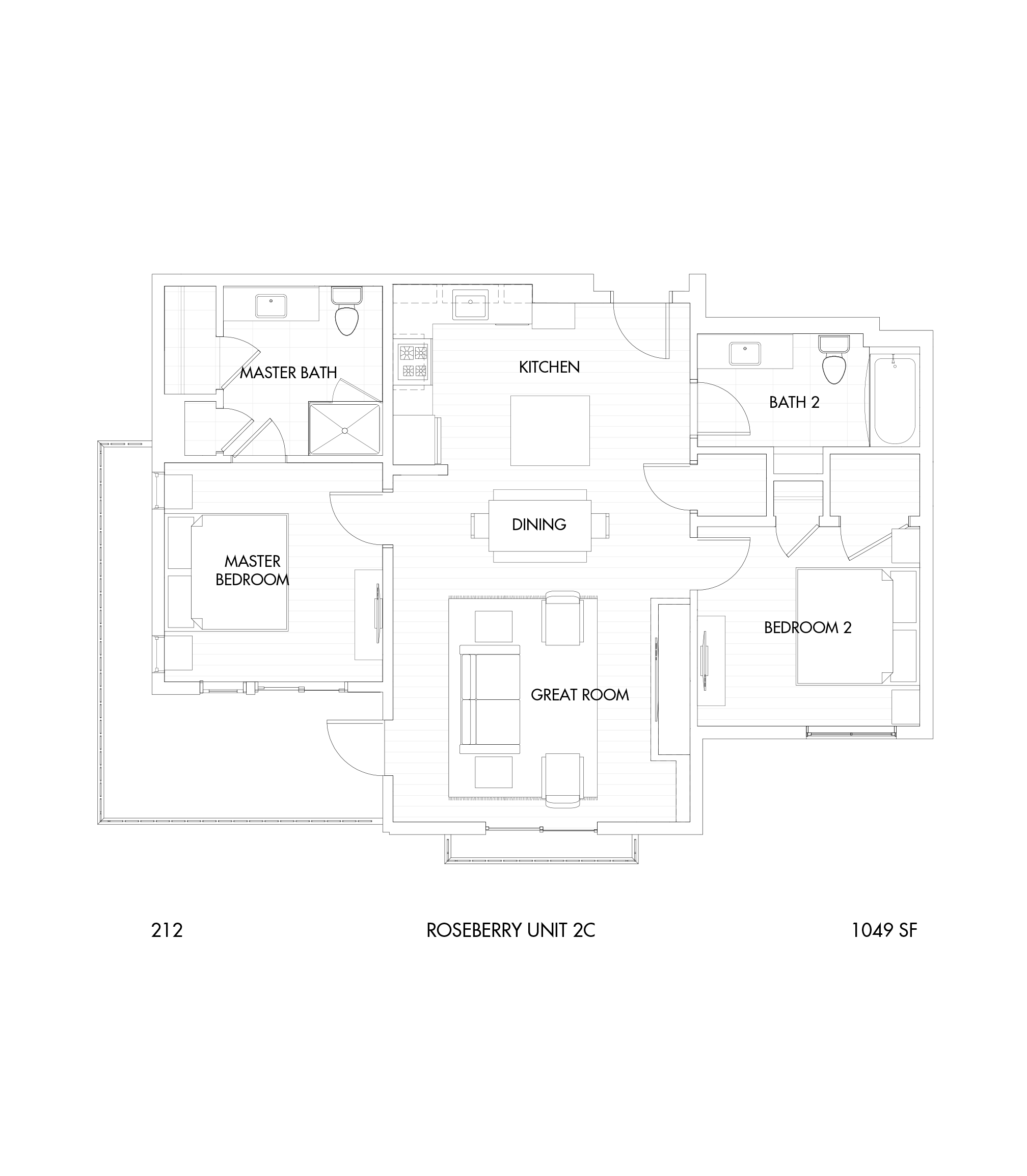 Roseberry 2-Bedroom