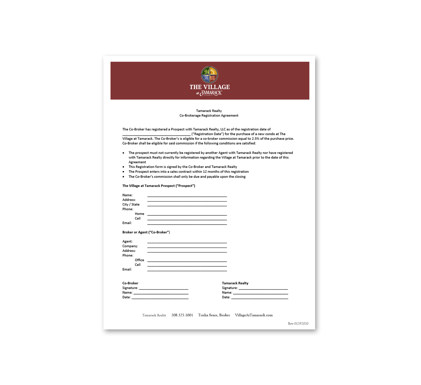 Broker Registration Form -