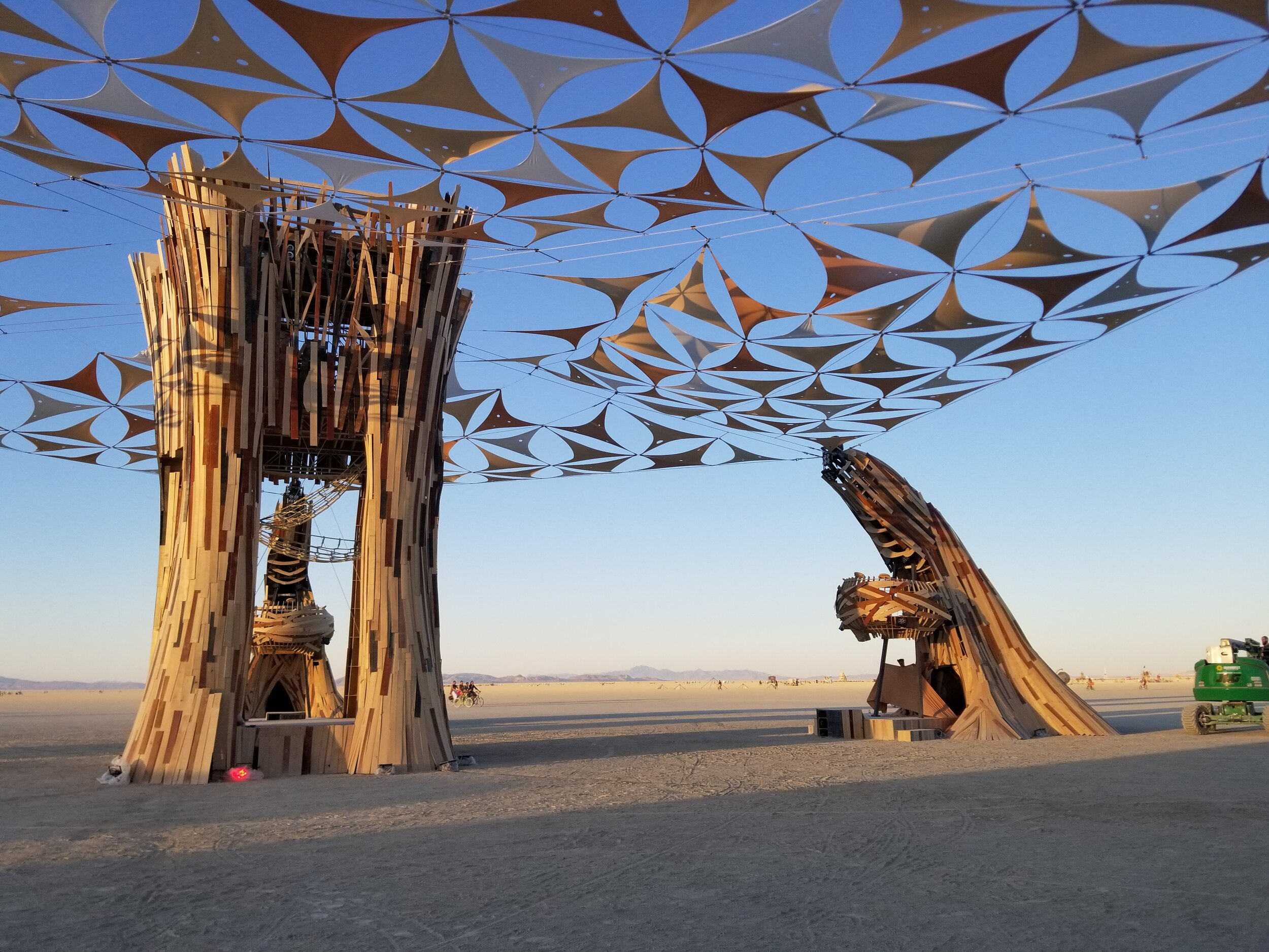 Root CathedralLogistics, communication, strike - For Burning Man 2019, the visionaries behind the Root Society decided to build a stage of epic proportions. So came the idea for the Root Cathedral, which was designed by Dallas Swindle and built by crews from New York, Austin, and San Francisco. I managed communications between crew and leadership, created a build plan document, coordinated steel shipments, and helped to deconstruct the monument once the party was over. dasivdesign.com