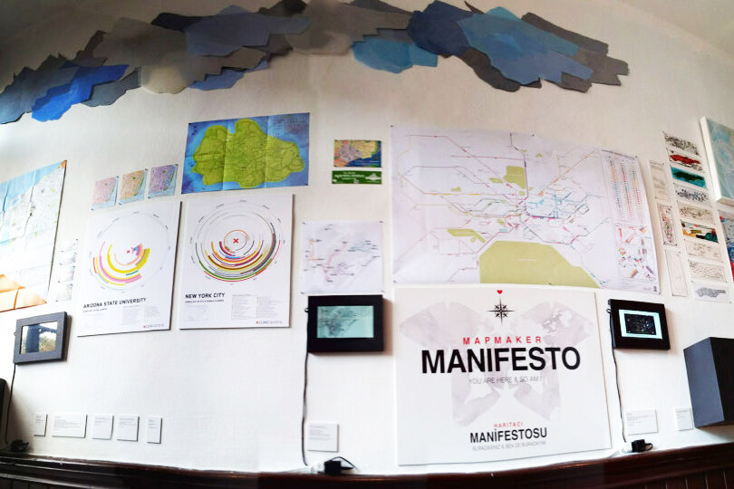Mapmaker Manifesto 2014 Istanbul Design BiennialCreative direction, curation, web design, writing - During it's open call, the 2014 Istanbul Design Biennial called for manifestos, and then asked the selected artists and designers to bring their manifestos to life.The Mapmaker Manifesto  calls on us to be critical of our data, and to empower each of us to become mapmakers. It manifested as a gallery of as  many kinds of maps as I could fit into the project's tiny room at the  Biennial. This project was completed for the one and only Stamen Design. mapmaker-manifesto.tumblr.com