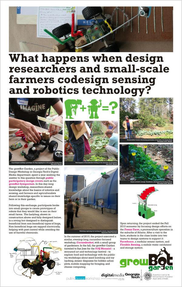 Poster describing Growbot Garden project, 2011