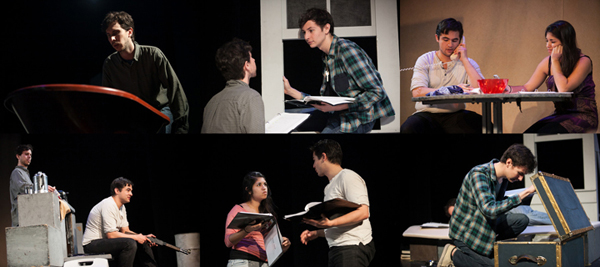Collage of Enhanced Staged-Reading of Or, The One With the Dogs