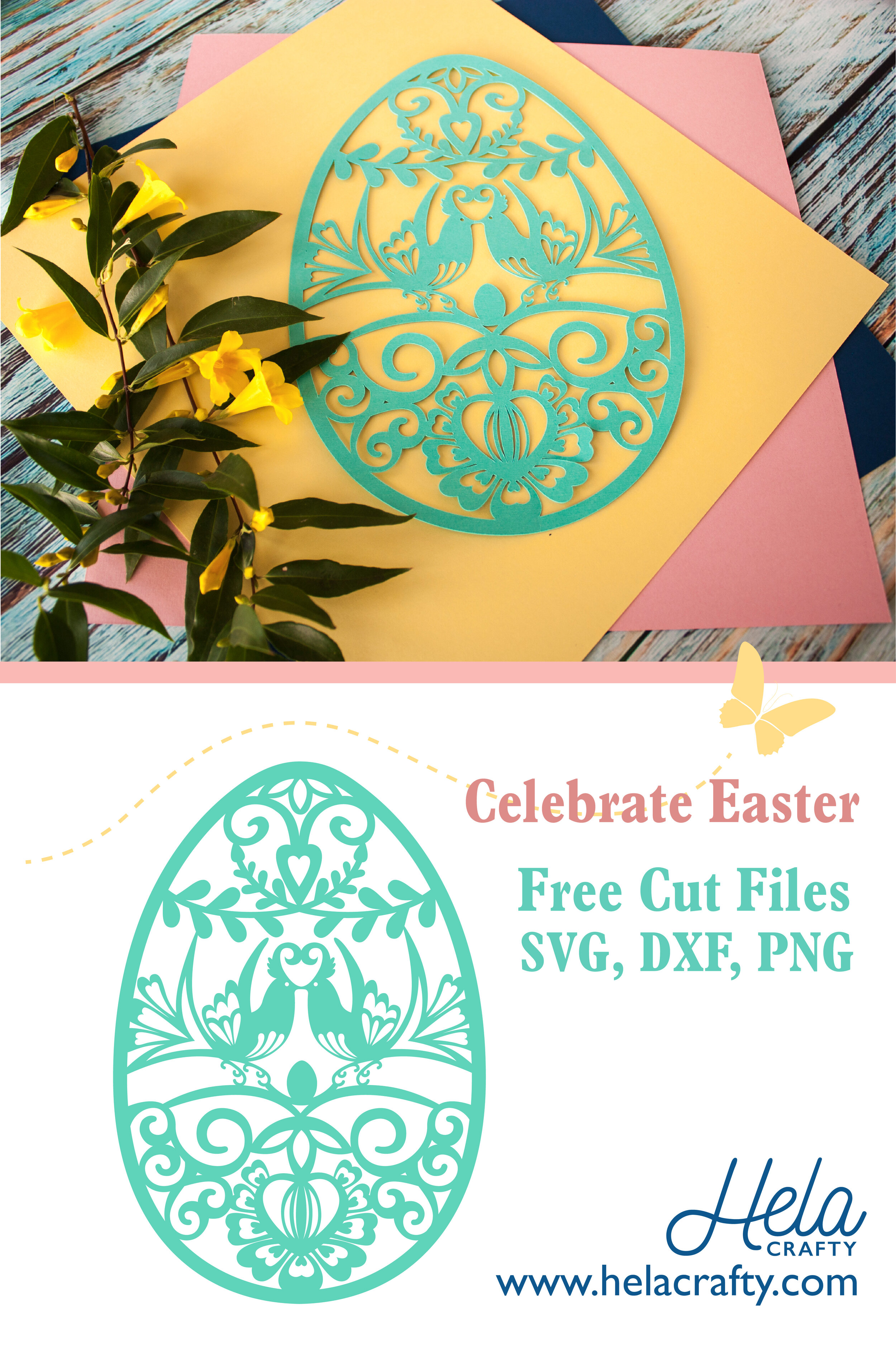 Easter Decoration Love Birds Free Svg Dxf Png Download For Cricut Silhouette Cameo Glowforge Hela Crafty