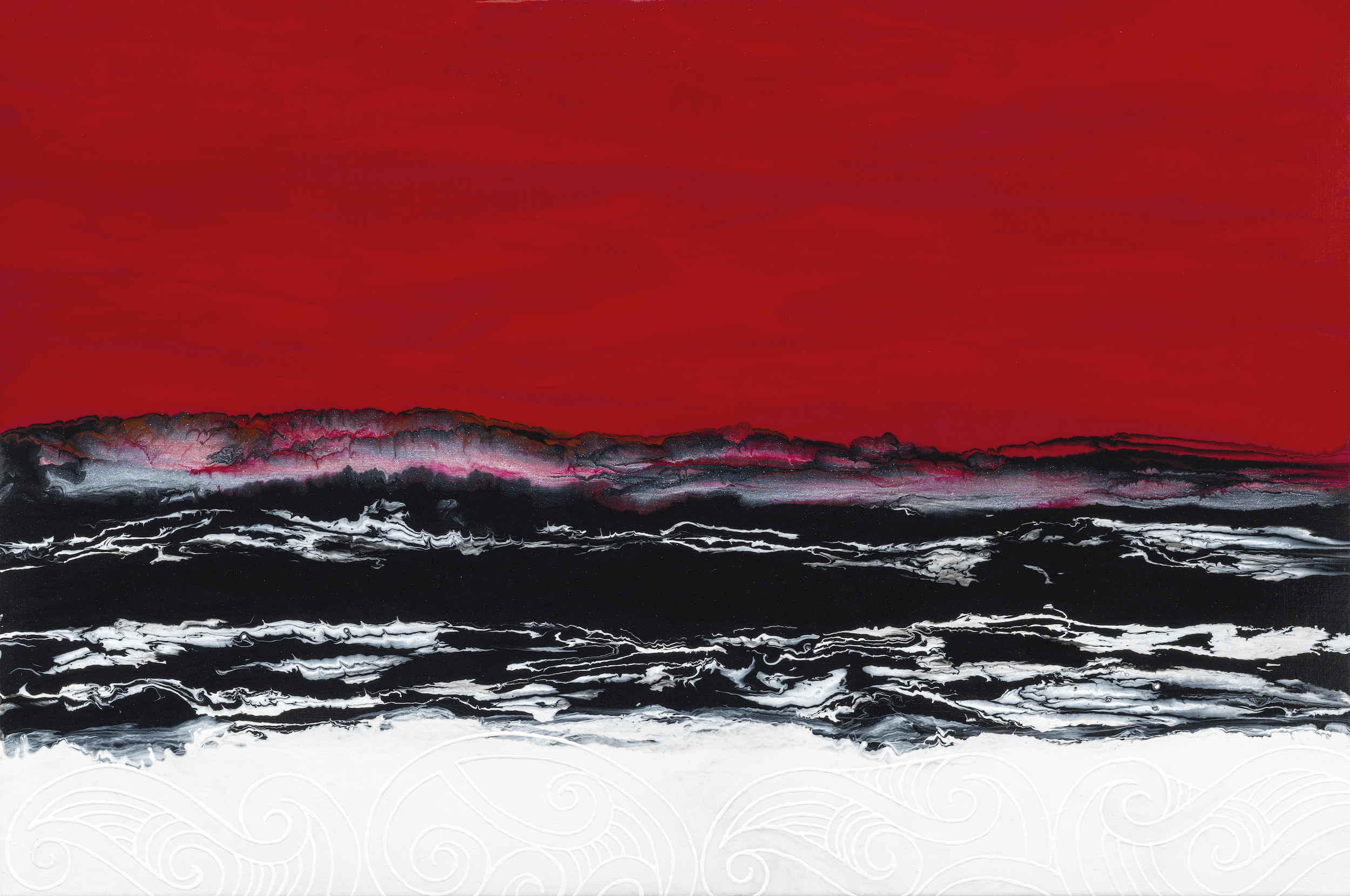 Forming the Landscape 2,  acrylic on linen, 91 x 61cm
