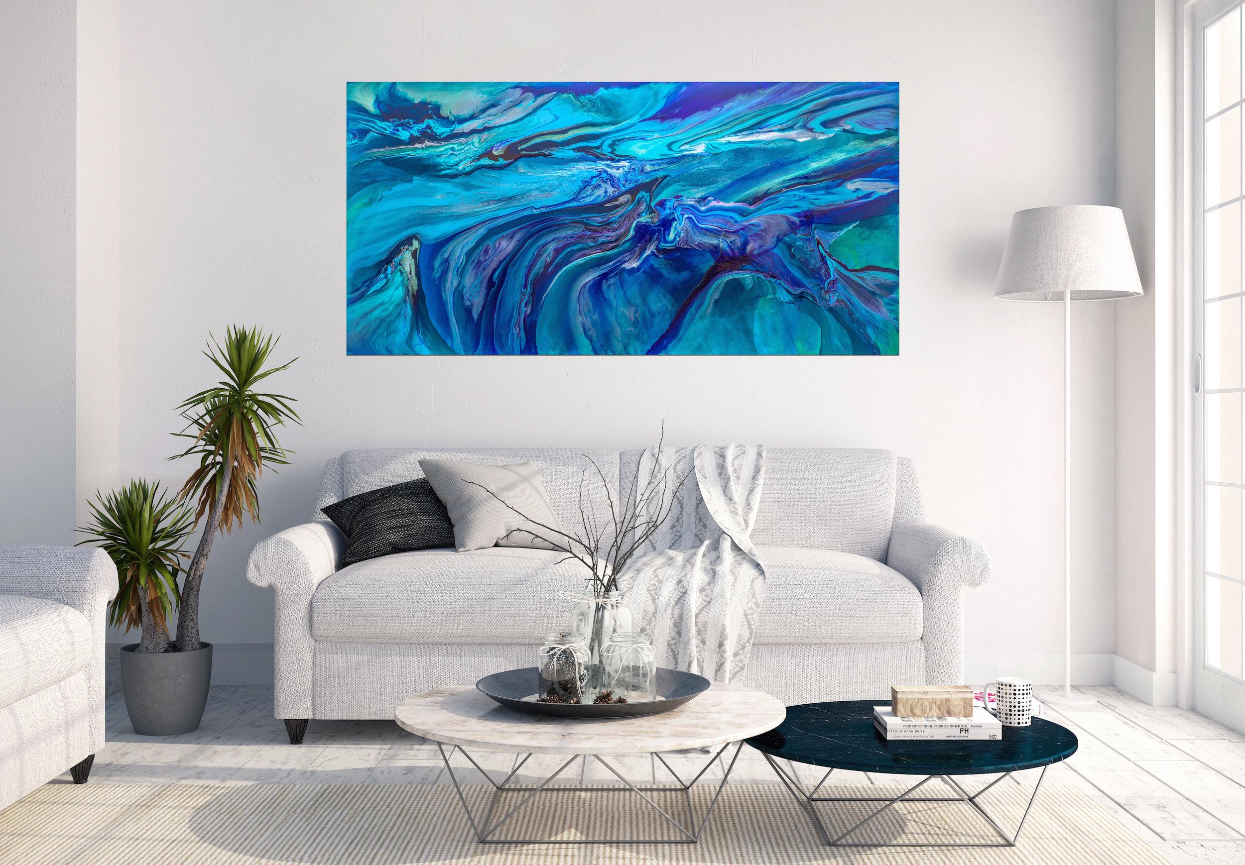 Wairua,  acrylic on linen, 152 x 76cm