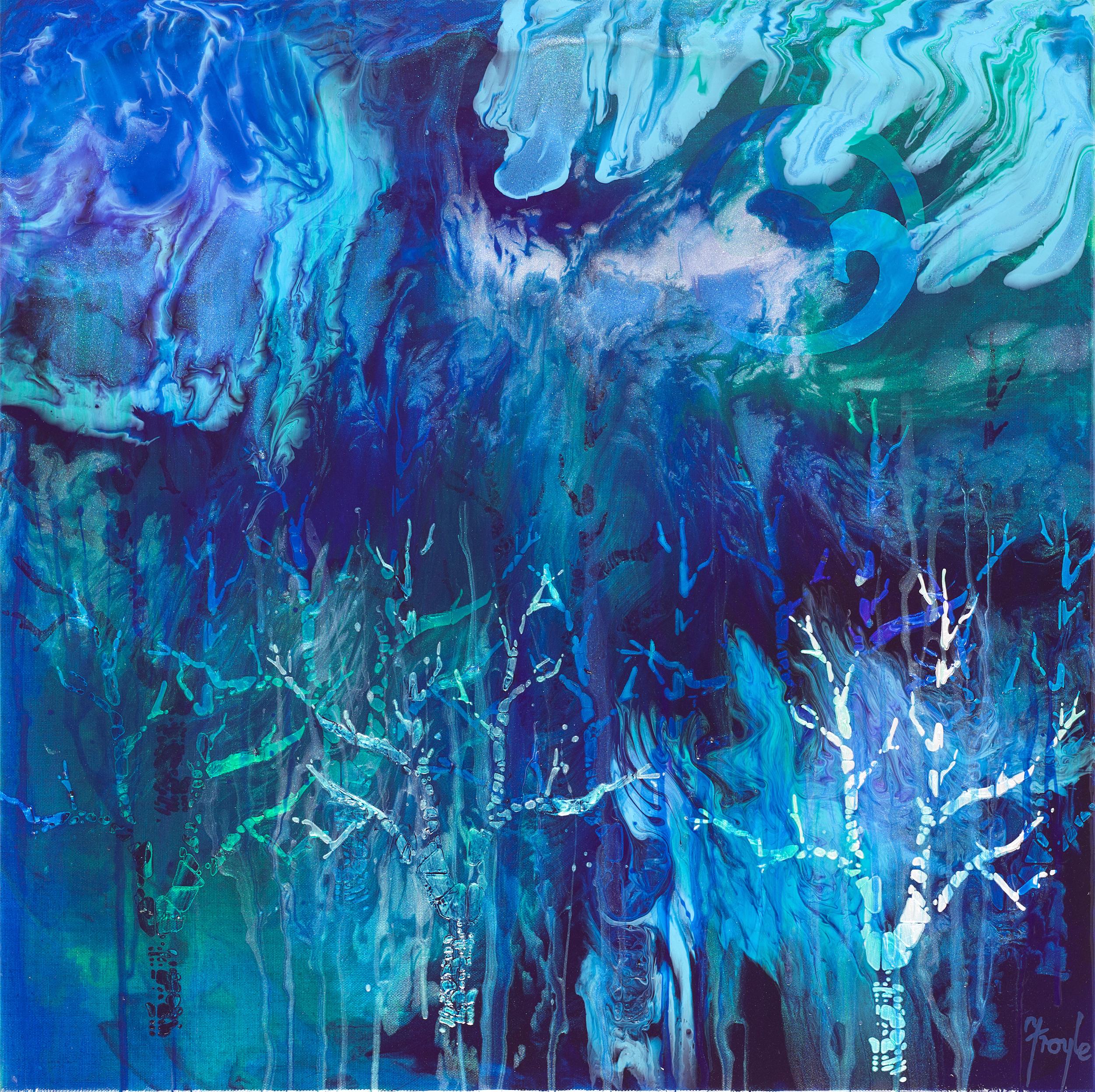 Whakapapa is Like The Whole Forest,  acrylic on linen, 61 x 61cm