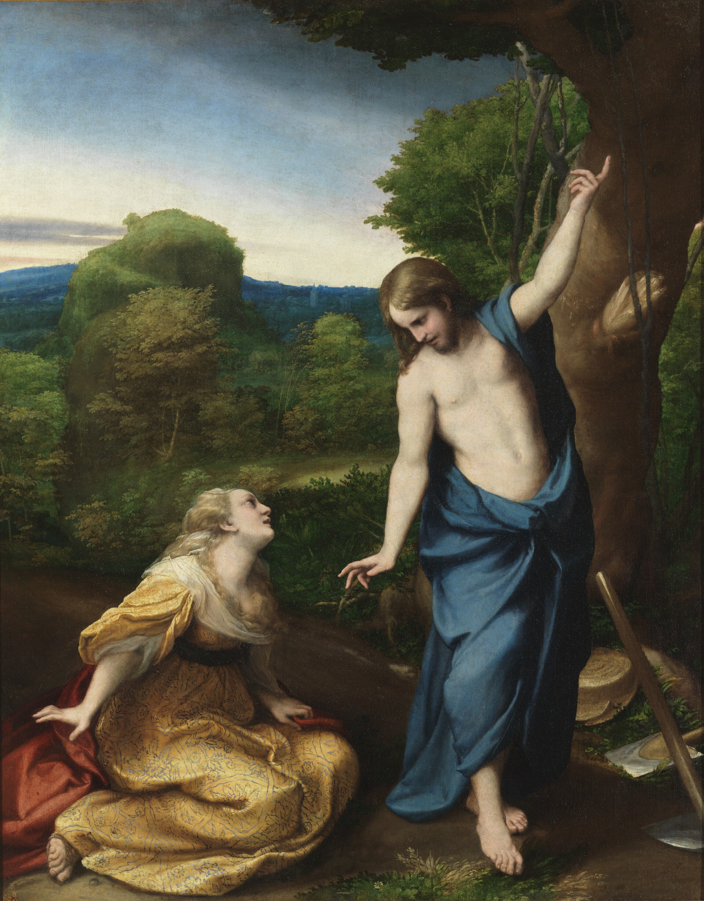 Noli Me Tangere — óleo sobre tela —  Antonio Allegri da Correggio —  cerca de 1534