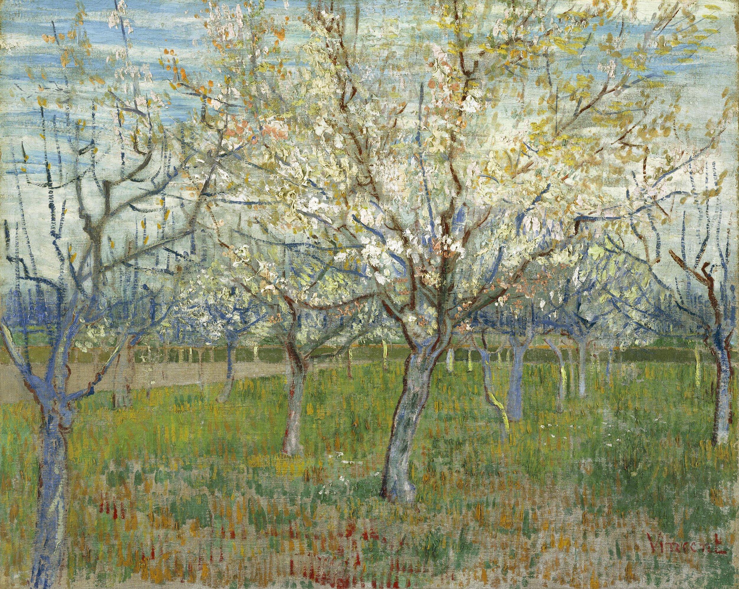 De roze boomgaard — óleo sobre tela — Vincent van Gogh —cerca de 1888