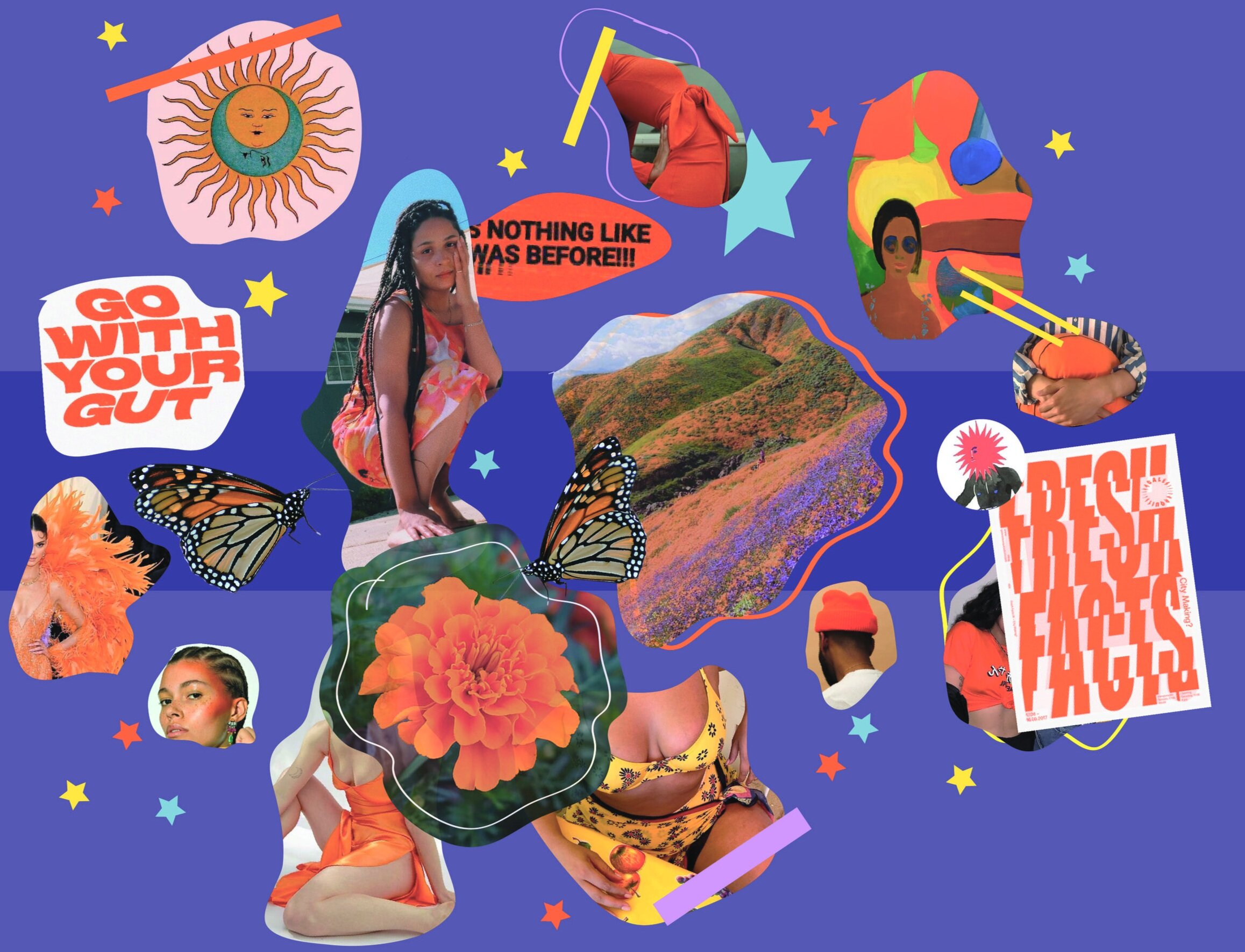 Summer Solstice Collage (2019)  by Lenea Sims
