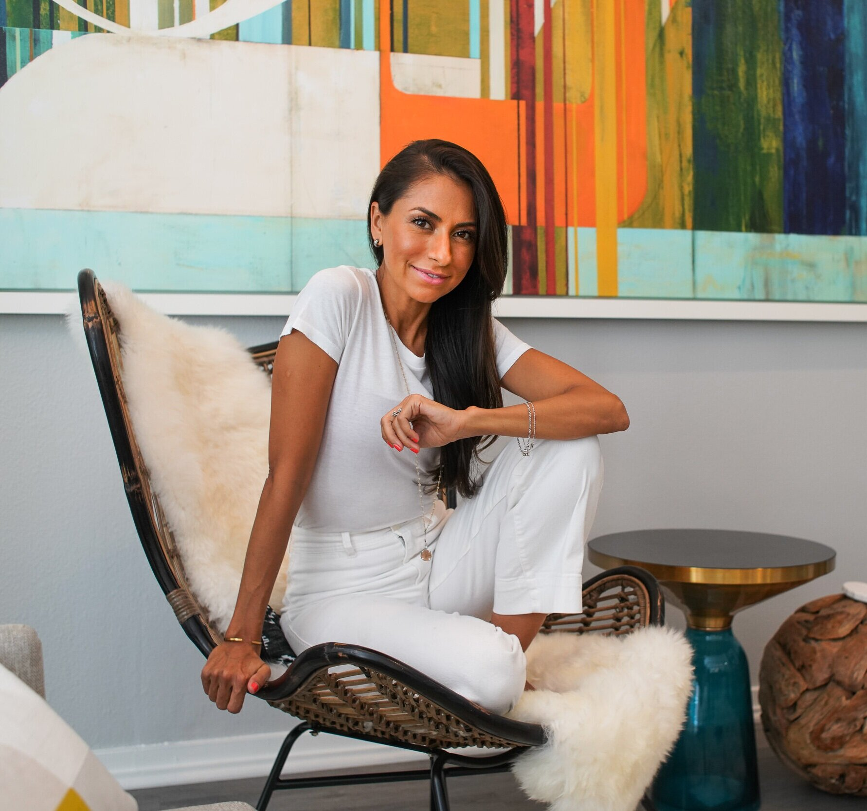 About Me - Mona Sharma is a dynamic leader and entrepreneur in the health and wellness industry, as well as a celebrity wellness educator, who works with high profile clients all around the world. She recently has a reoccurring role on the Facebook series Red Table Talk, where they profiled her health and wellness work with Will Smith and the entire Smith family. She is also a Holistic Nutritionist, mind/body coach, and founder and of Xicama™ an innovative line of functional food and beverage products, that deliver the gut and immune boosting benefits of the superfood, Jicama, and were an official functional cocktail mix at Coachella 2019.Now living in Los Angeles, and working with clients around the world, growing up, Mona spent summers living on an Ashram, learning the power of food as medicine, yoga, and meditation to heal the body. Today these are the pillars of Mona's philosophy, helping her clients achieve their goals for long term optimal health and excellence. She believes in functional nutrition as medicine, breath and movement as therapy, and meditation as mind re-conditioning, ridding the effects of learned behavior, stress, and inflammation of the body. Mona awakens the health, mindset, and lifestyle that allow her clients to thrive, achieve their goals, while developing sustainable habits with fun and ease.