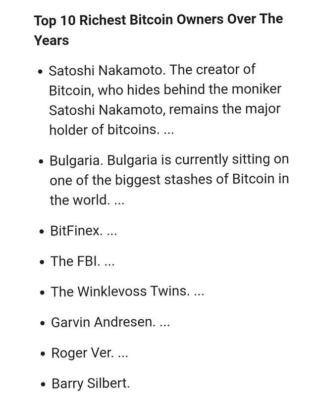 Top 10 BTC holders!  #btc #cryptocurrency #digitalmoney #eth #boston #winter #bitcoin #wealth