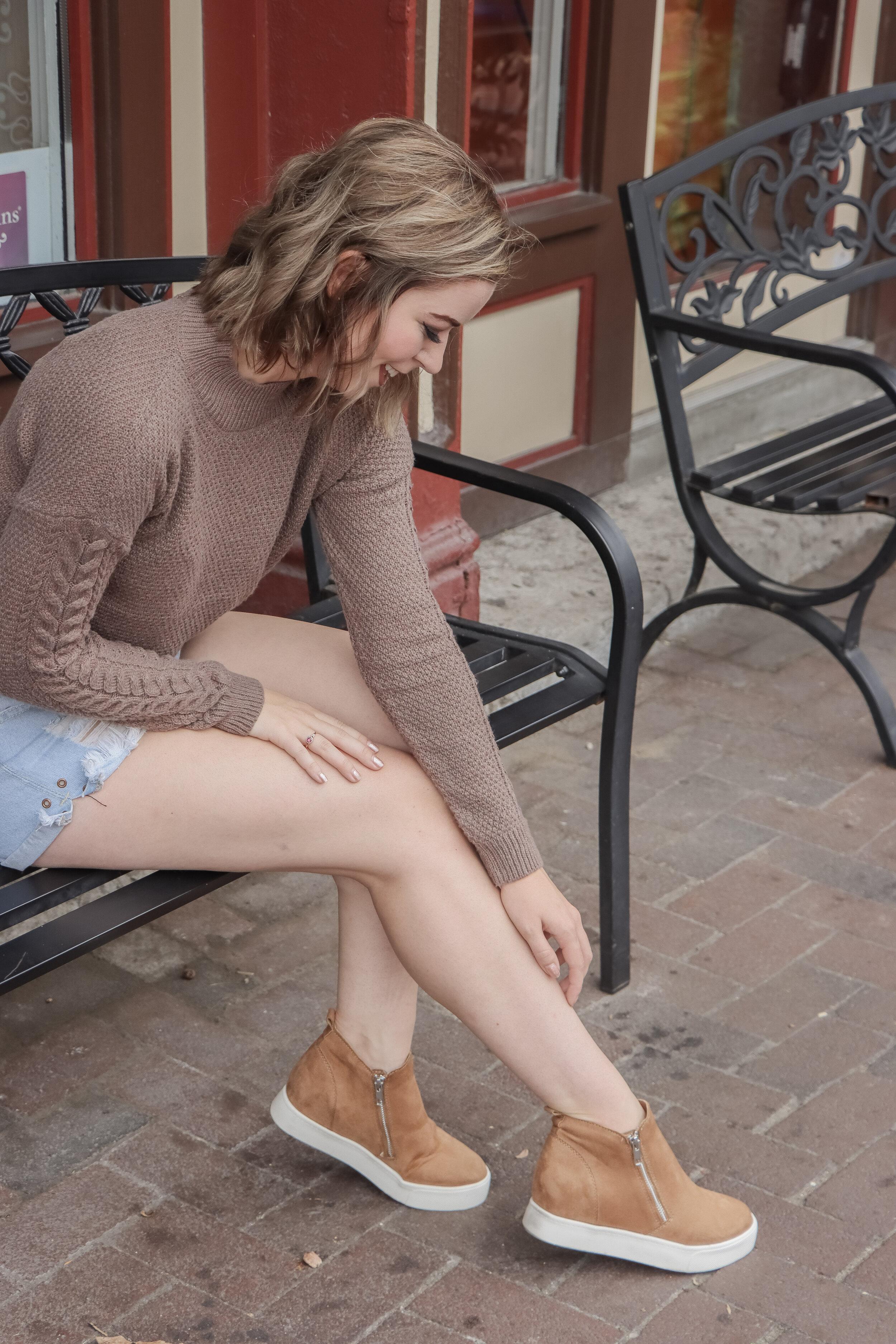 Charlotte Wedge Sneaker — Amelia