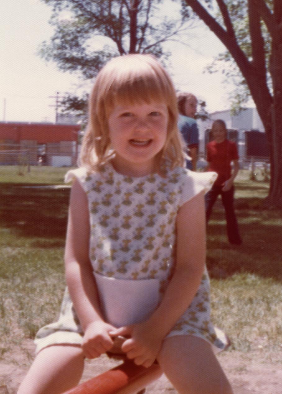 Finding balance at an early age; photo circa 1974.