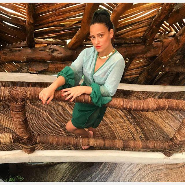 . Lady Marty Rockin' Moulage 💚 @ladymartybegood💖💖💖💖 SS19 #m_oulage #luxuryknitwear #fashion #fashiondesigner #madeinitaly #sartorial #detail #shooting #fashionphotographer #mood #ss19 #springsummer2019 #green #worldsgreatestplaces #azuliktulum #architecture #innovation #tulum