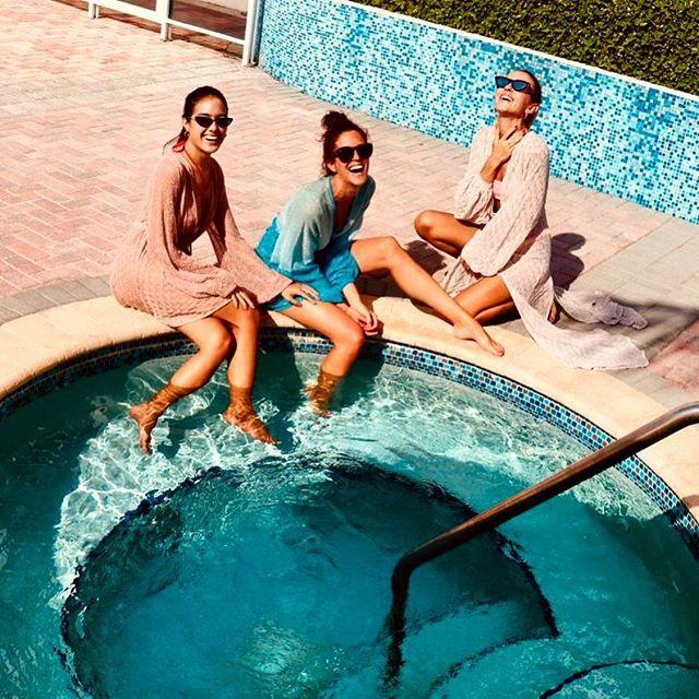 . Beauties Partying in Miami 💜 Moulage is for Fun ✨💕✨ SS19 #m_oulage #luxuryknitwear #fashion #fashiondesigner #luxurybeachwear #pool #madeinitaly #sartorial #detail #shooting #fashionmodel  #fashionphotographer #mood #sleeve #knitwear #ss19 #model #lurex #miami #beachwear @delfina_pietri 💕@dilettadd 💛@sharfonseca 💜