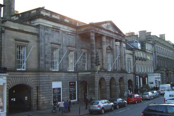 """""""File:The Assembly Rooms, George Street - geograph.org.uk - 967953.jpg"""" by GeographBot is licensed under CC BY-SA 2.0"""
