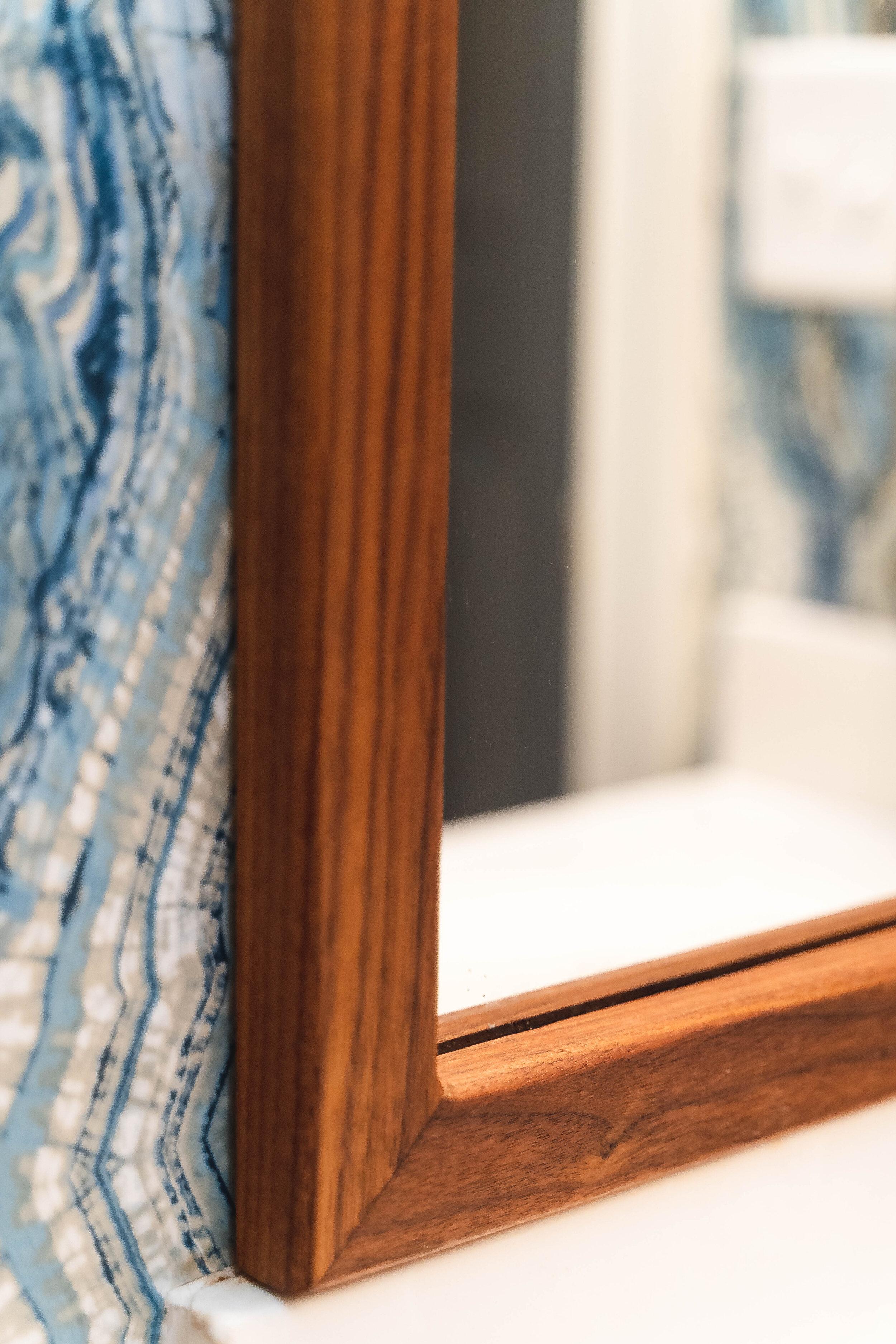 Walnut Bathroom Mirror Frame