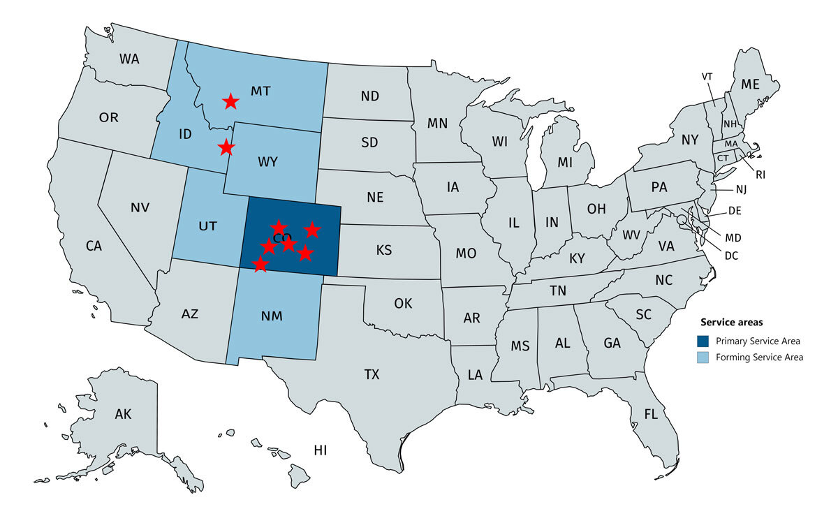 Available Areas - Currently available in Denver, Durango, Eagle, Crested Butte, Ridgway and Salida, ColoradoForming areas in Driggs, Idaho and Bozeman, Montana