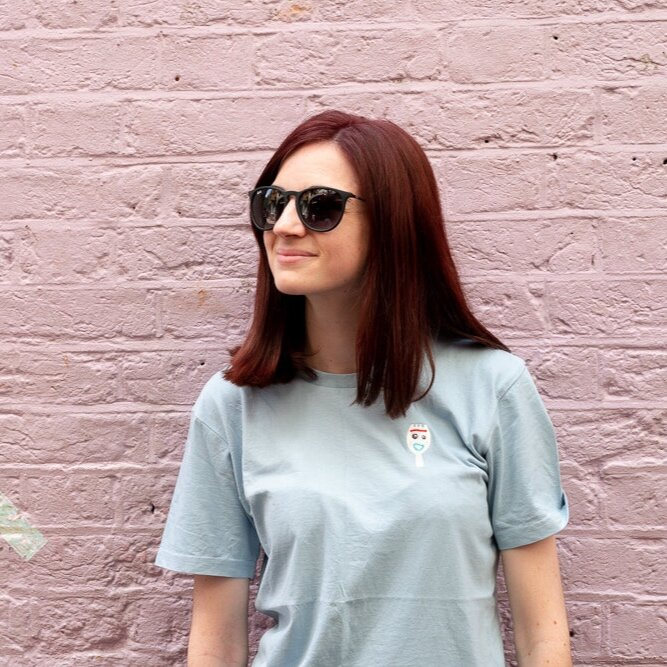 Welcome to Teeq! - Hi I'm Alice and I run Teeq from our little office in the seaside town of Margate, Kent UK. I've always had a passion for designing clothing so I started Teeq in 2017, to share my love of pop culture, design and embroidery with the world!