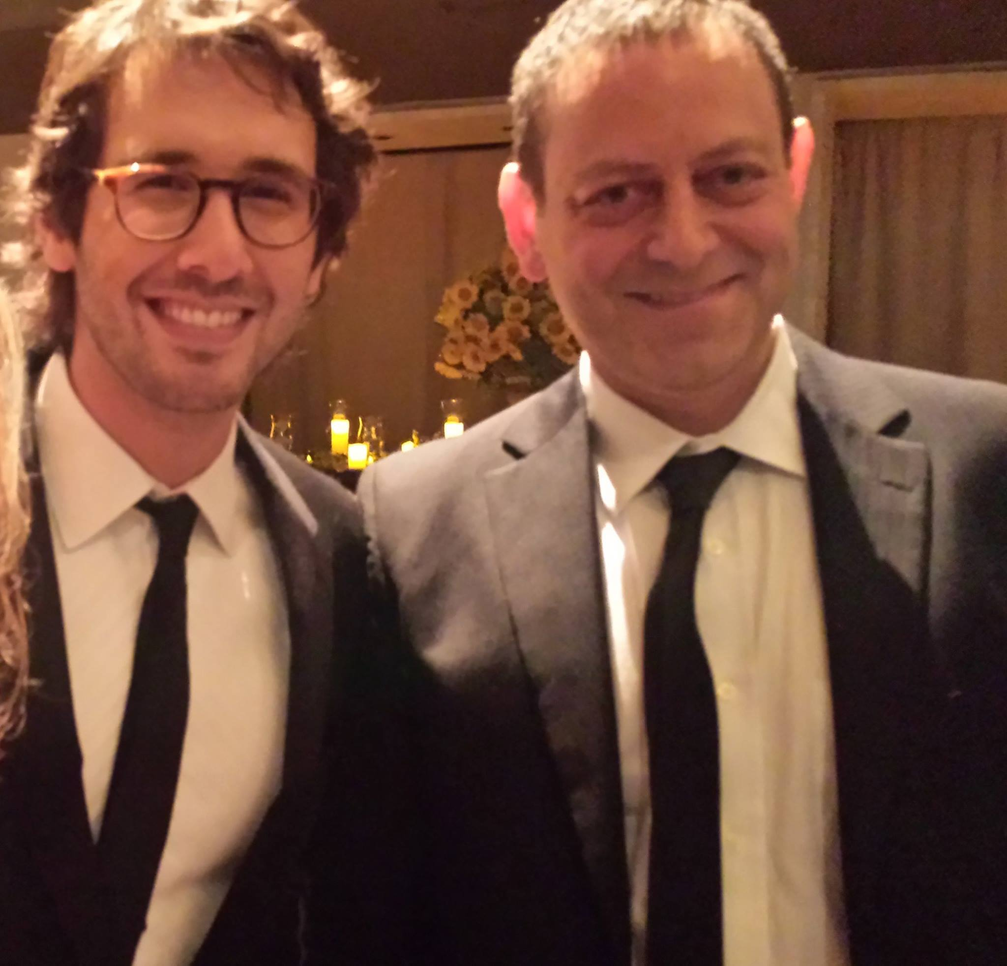 With Josh Groban at the New York Philharmonic gala