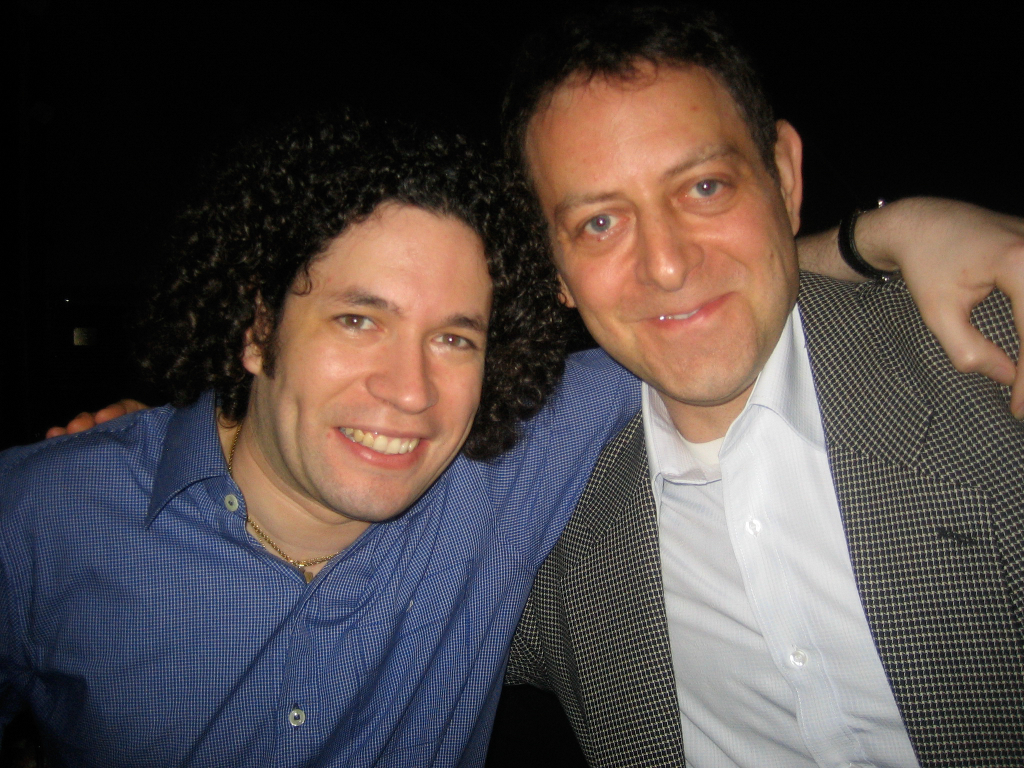 With conductor Gustavo Dudamel in Caracas, Venezuela