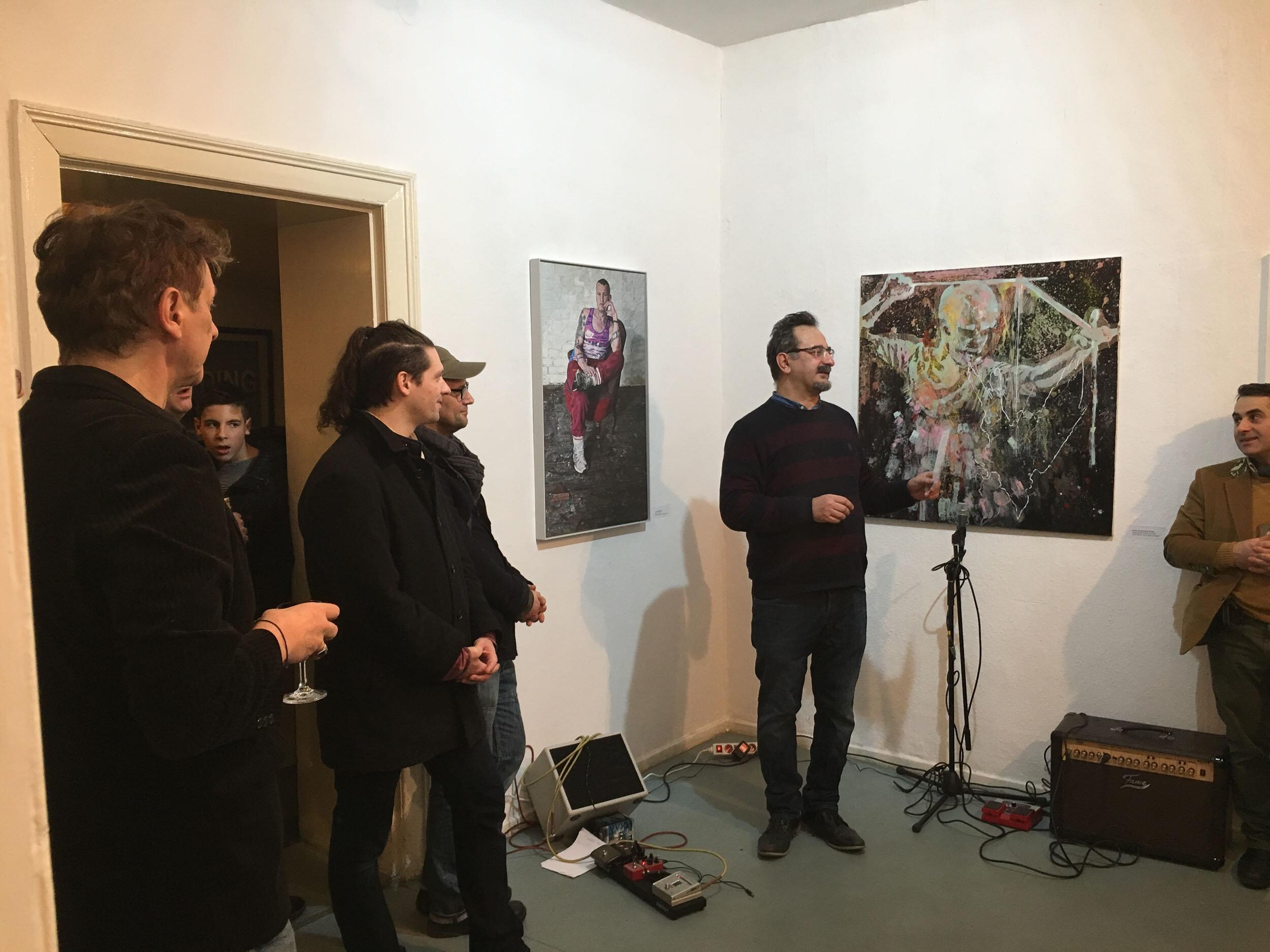 """Prima Center Berlin - """"MAN UP - MAN DOWN"""" mit Filmvorführung """"Super Art Market"""" (Zoran Solomun)Feb 2018"""