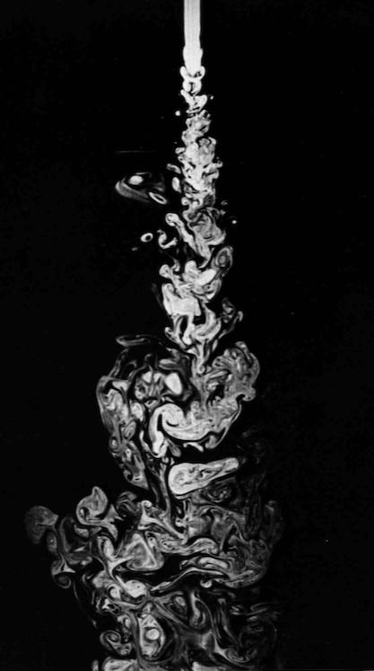 Turbulent Water Jet // Milton Van Dyke,  An Album of Fluid Motion