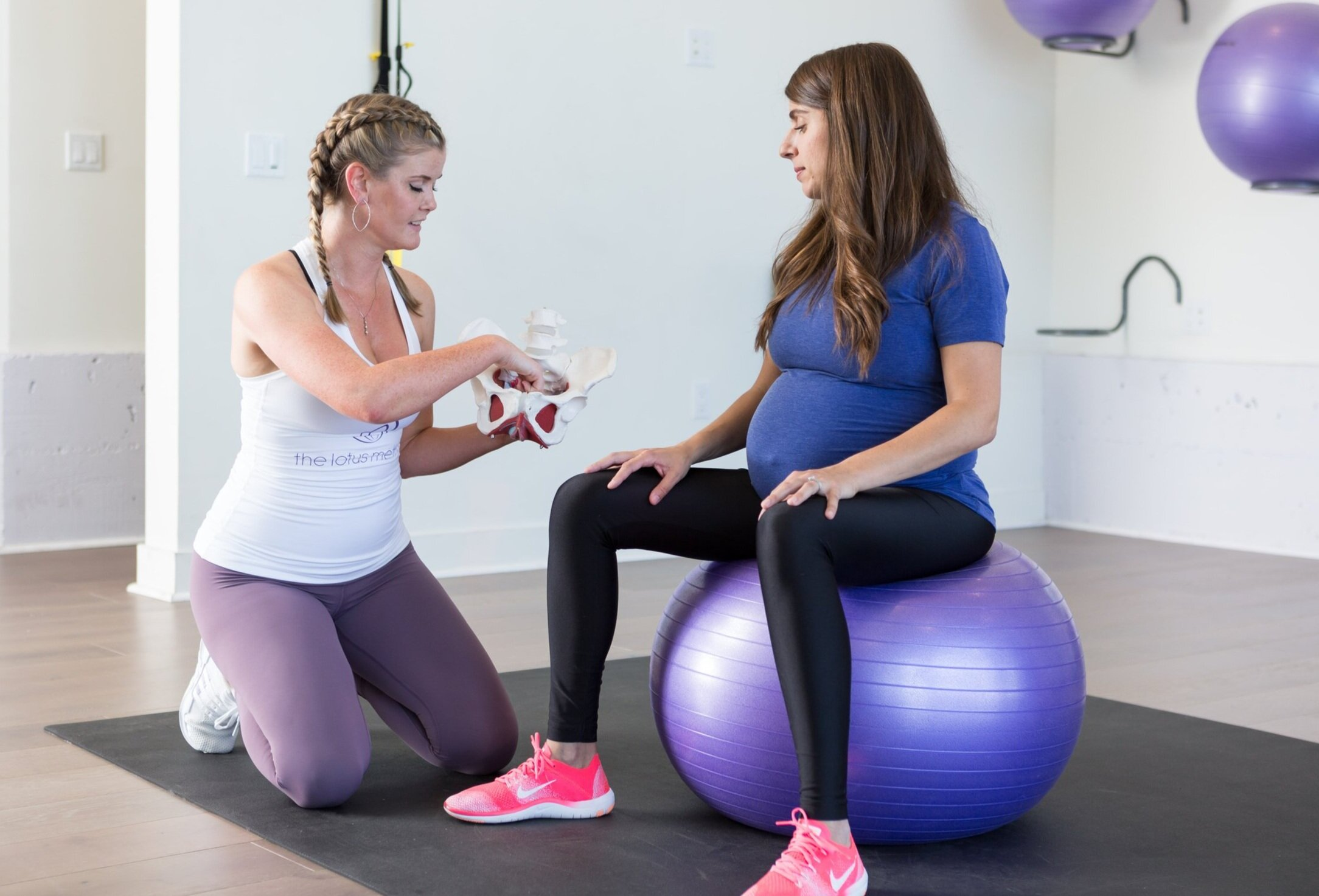 pregnancy exercise ball