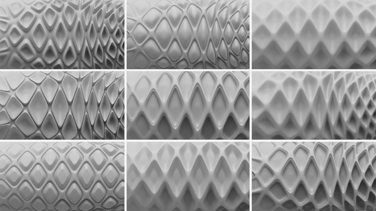 Rapidly iterating texture concepts to discover the perfect profile.