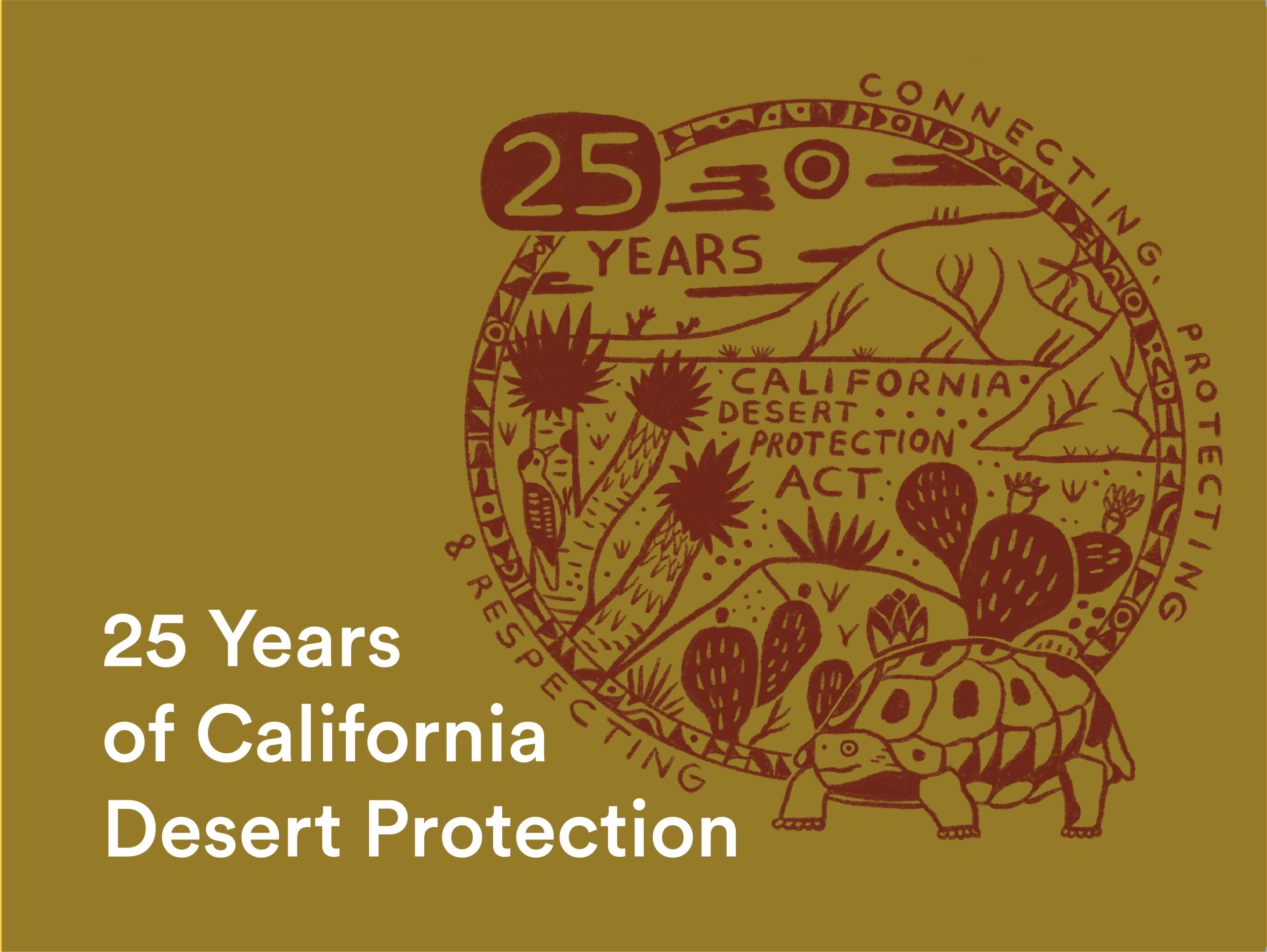 COALITION - Supported conservation advocates to develop a series of events, communication materials and statements of local support celebrating the 25th anniversary of the California Desert Protection Act, which catalyzed legislative protections
