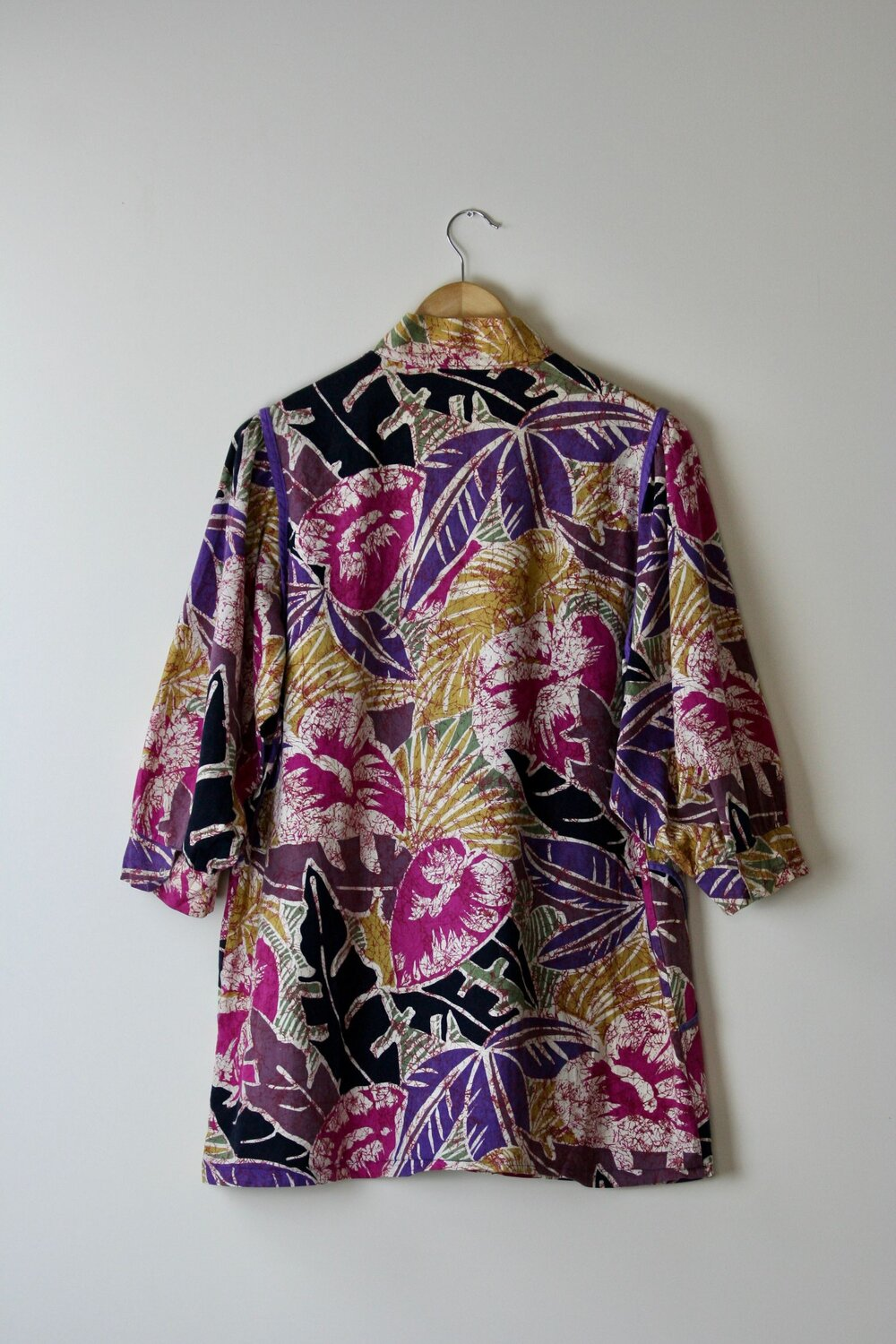 Vintage abstract floral print blouse