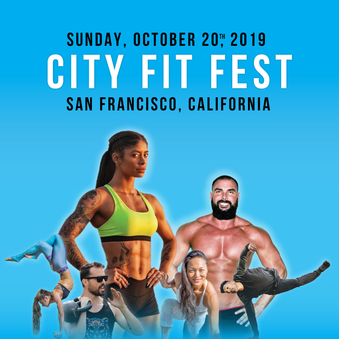 3rd Annual CITY FIT FESTSan Francisco - SUNDAY, OCTOBER 20th Located at the historic Marina Green park overlooking the Golden Gate Bridge and Alcatraz. City Fit Fest is a groundbreaking festival experience, blending a revolutionary fusion of Fitness, Wellness, and Mindfulness (ALLNESS). Featuring some of the best coaches, teachers, and speakers from around the country! Our mission: to empower individuals to 'Discover their 'Ness' and create community through movement.