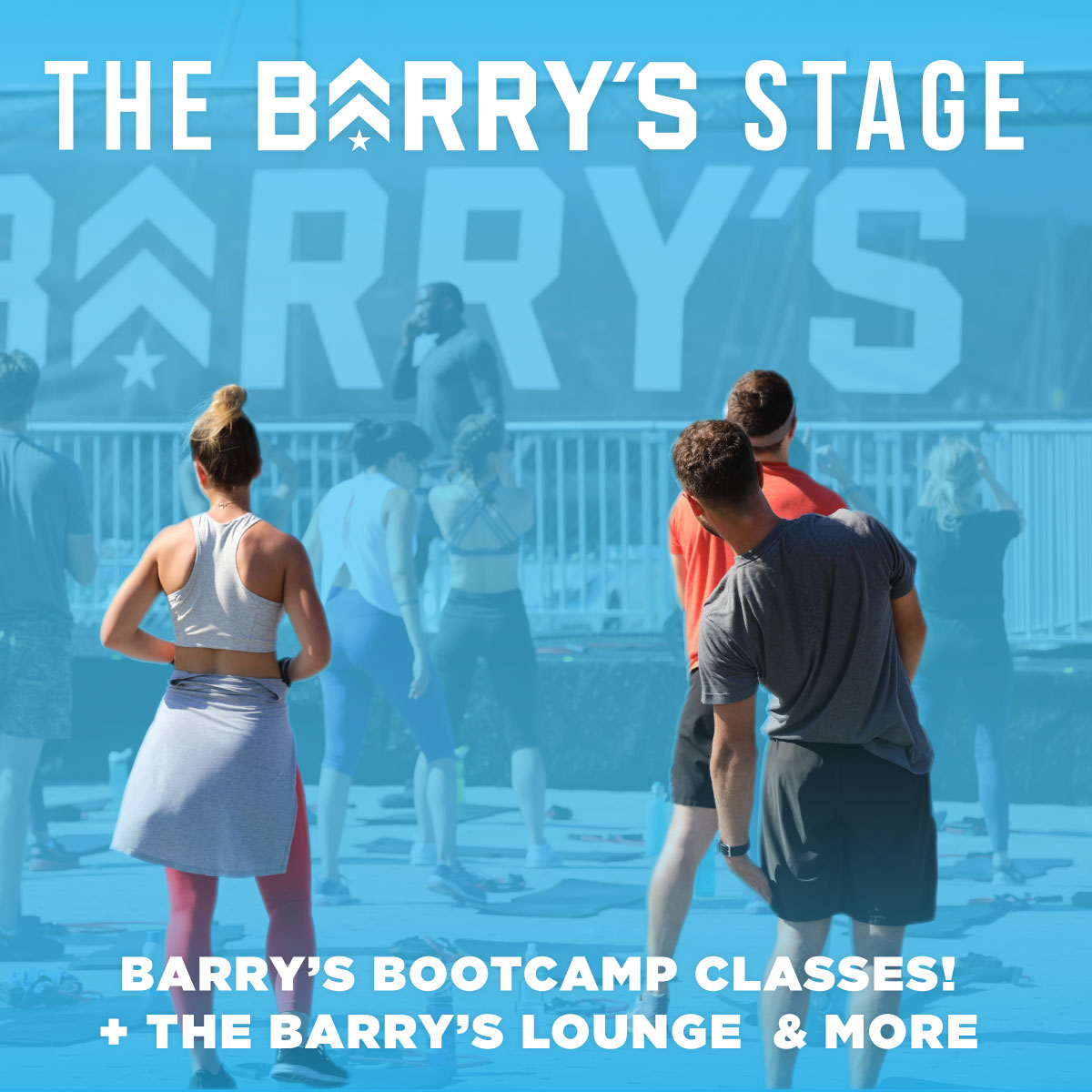 Barry's Bay Area is back to bring the heat! - Your tickets include access to classes at the Barry's Stage! Must Purchase tickets and Register for class!