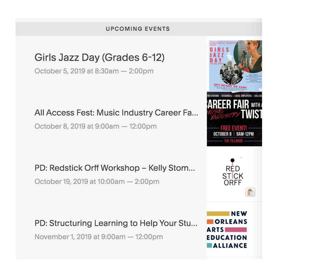Music Education Calendar - Visit this listing of professional development offerings, conferences, and special events for students.
