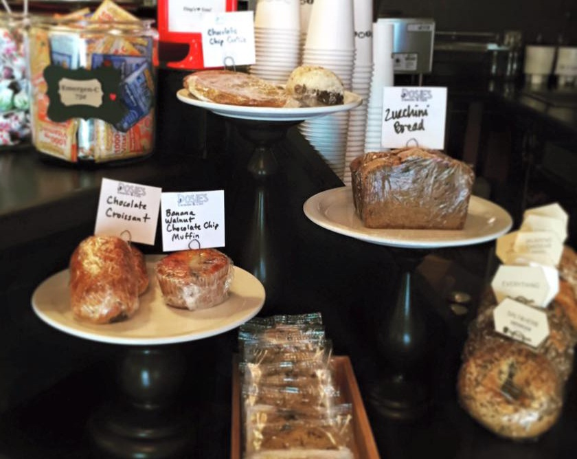 Our Food - we offer a full menu including breakfast bagels, lunch sandwiches as well as soups and salads all made from local ingredients. If you are looking for a yummy pastry, choose from our assortment of local pastries with plenty of vegan and gluten free options.