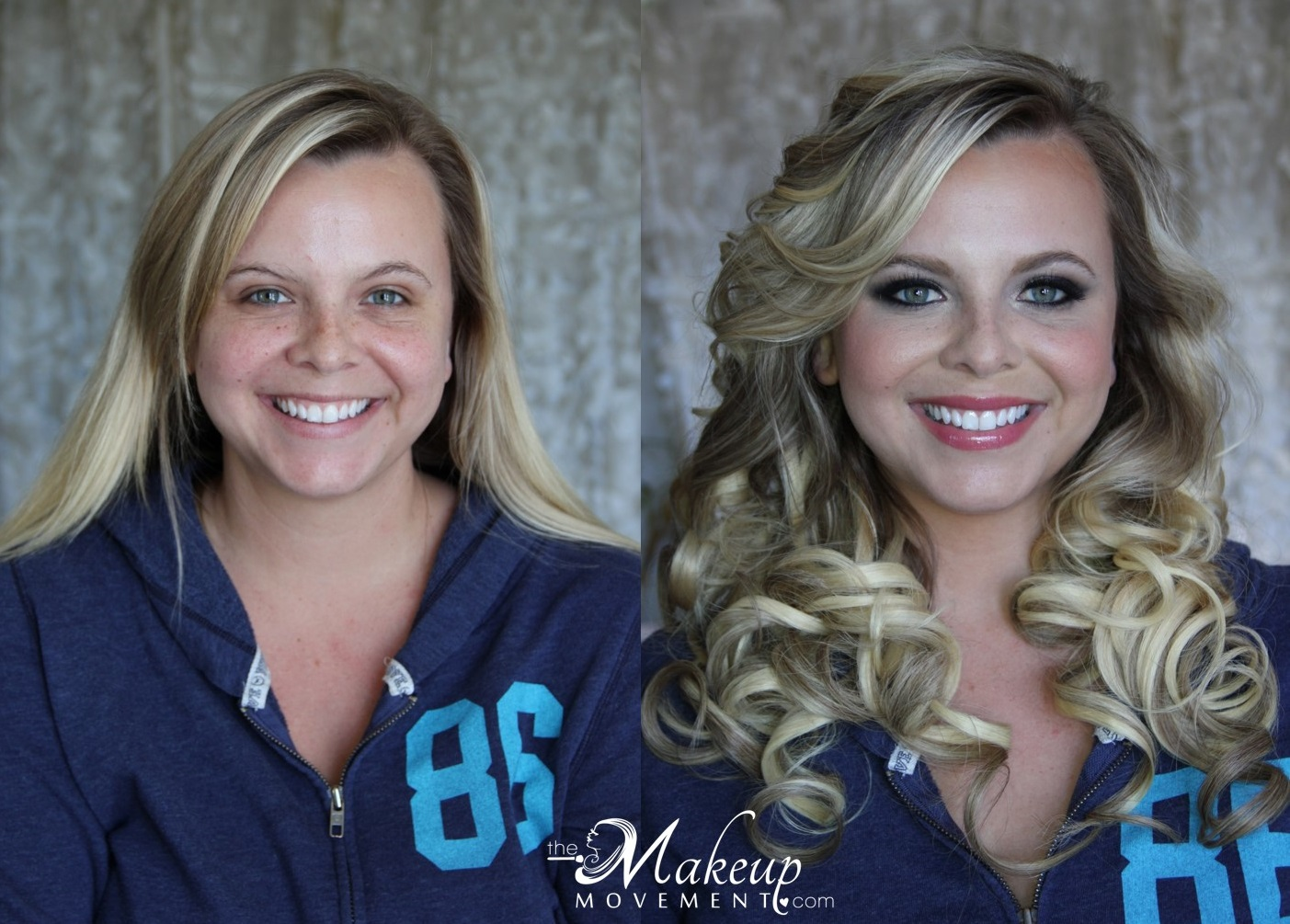Makeup and Hair by Annie large loose curls blue eyes.jpg