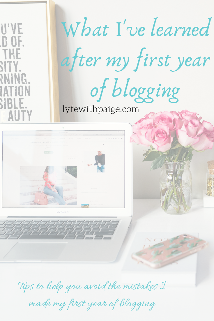 what I've learned after my first year of blogging