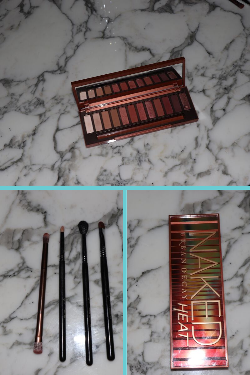 What you'll need for naked heat smokey eye tutorial