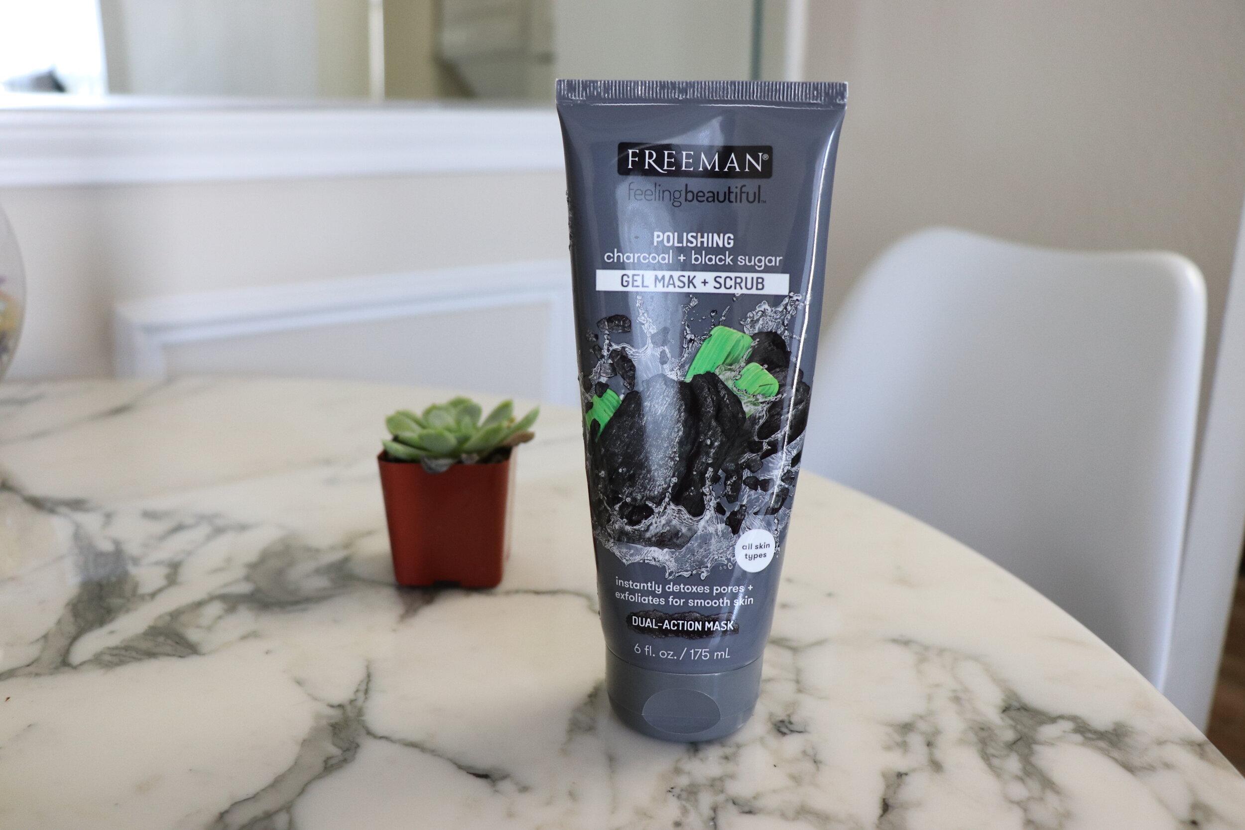 freeman charcoal black sugar gel mask scrub
