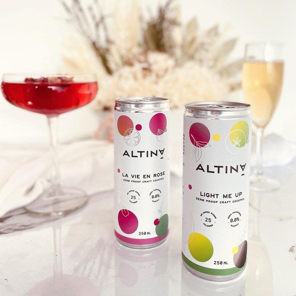 La Vie en Rose & Light me Up from Altina Drinks
