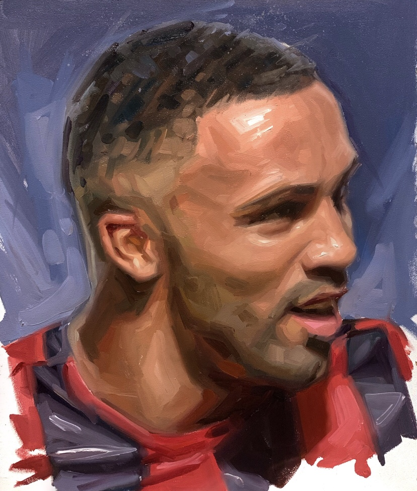 Callum Wilson Bournemouth Oil Painting